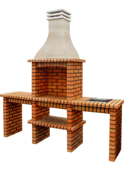 Code Brick Barbecue With Sink Stone