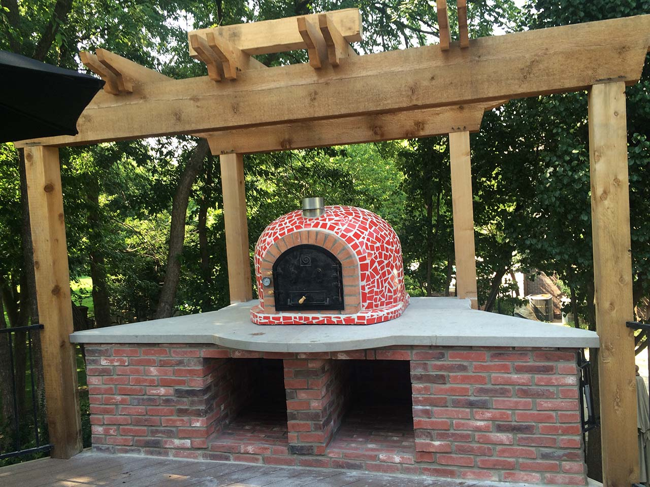 Code Pizza Oven Mosaic Tiles Stone Creations
